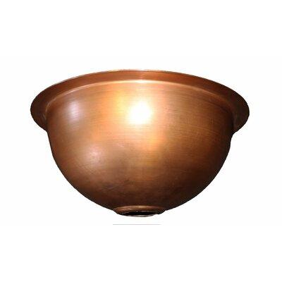 "14"" L X 14"" W Copper Bowl Sink Copperworks"