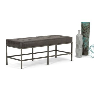 Simpli Home Beckett Faux Leather Bench