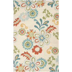 Chasse Blue/Red Indoor/Outdoor Area Rug