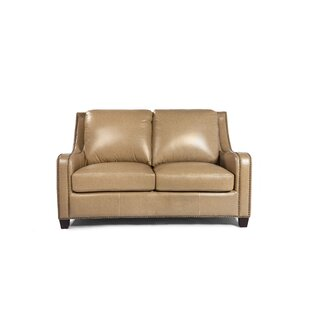 Howa Leather Loveseat by Darby Home Co