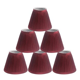 Pleat 6 Silk Empire Candelabra Shade (Set of 6)