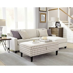 Kizer Reversible Sectional with Storage Ottoman