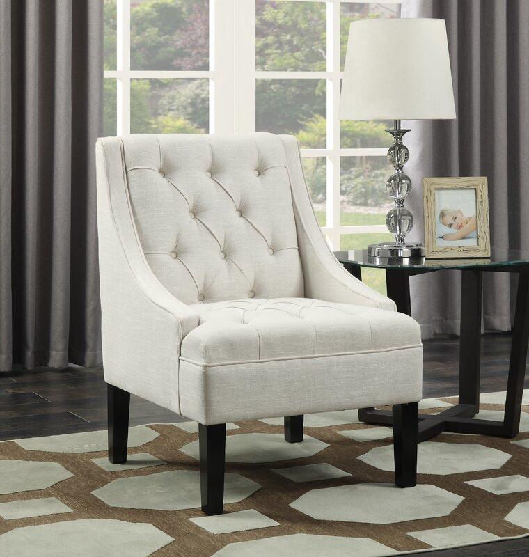 Three Posts Button Arm Chair & Reviews   Wayfair
