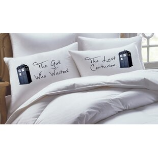 2 Piece Doctor Who Inspired His Hers Pillowcase Set