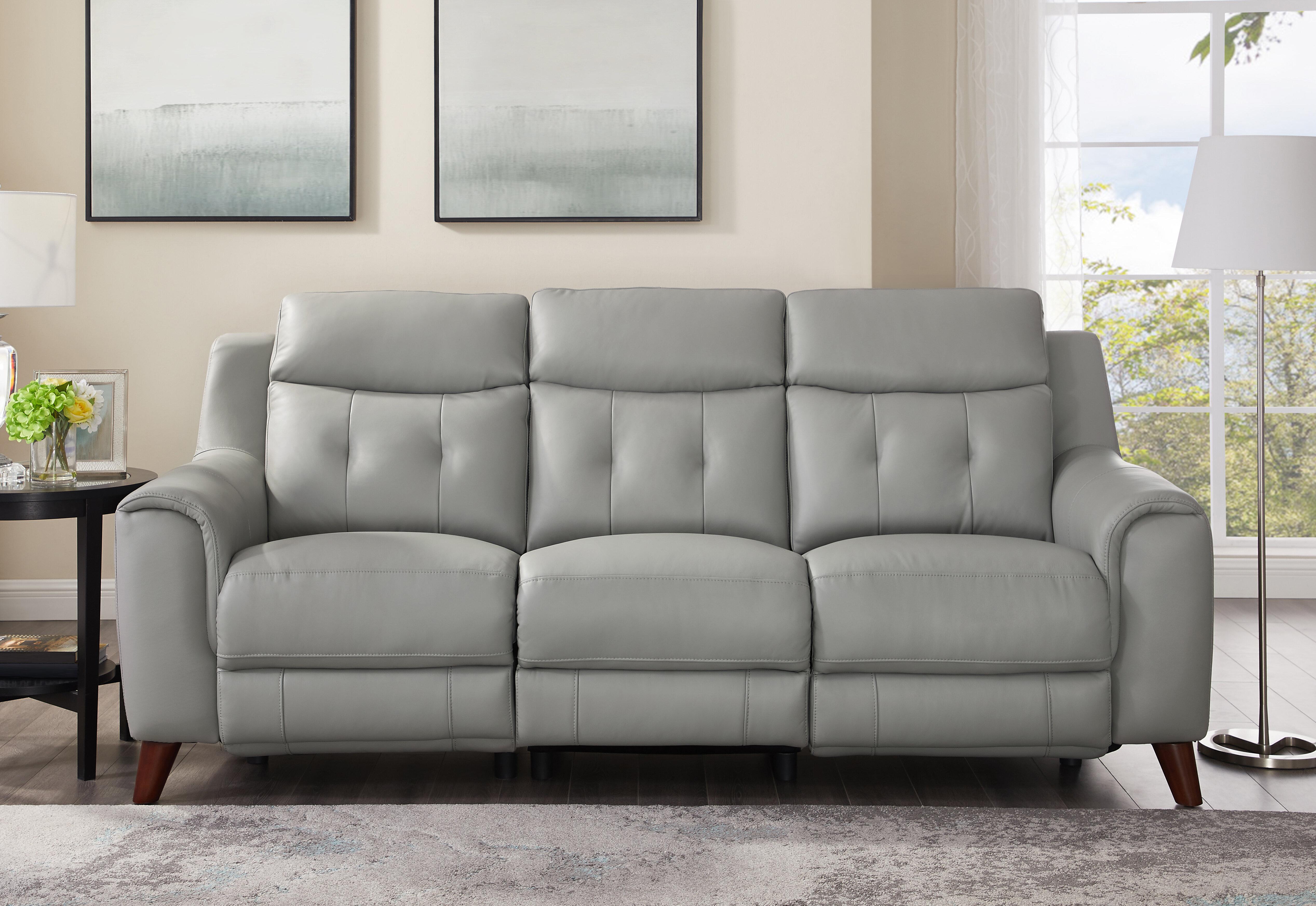 Stupendous Nagata Leather Reclining Sofa Short Links Chair Design For Home Short Linksinfo