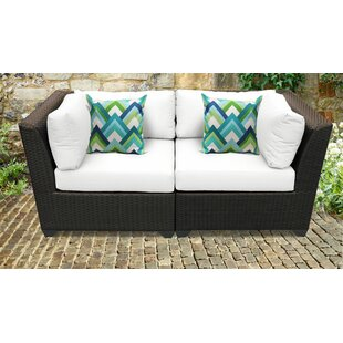 TK Classics Barbados 2 Piece Conversation Set with Cushions