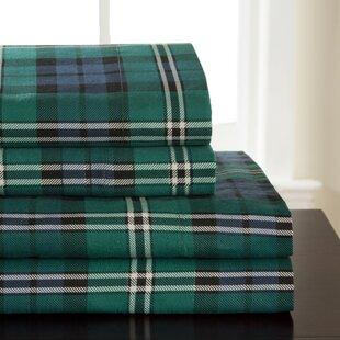 Winter Nights Flannel Jackson Plaid 100% Cotton Sheet Set