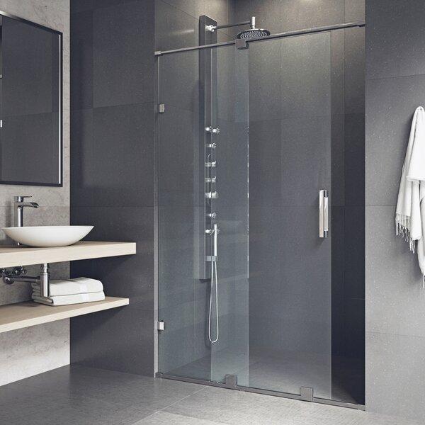 Vigo Ryland 64 X 73 Single Sliding Frameless Shower Door With