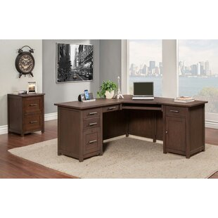 Powell 2 Piece L-Shaped Desk Office Suite by Latitude Run New