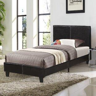 Allegan Faux Leather Upholstered Low Profile Platform Bed by Ebern Designs