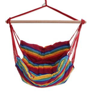 Bloomsbury Market Ramsey Jungle Rainbow Cotton Swing Hammock