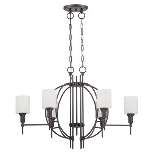 Gracie Oaks Venilale 6-Light Shaded Chandelier