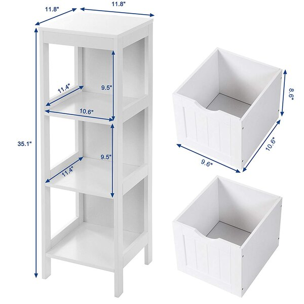 Tangya 11 8 W X 35 1 H X 11 8 D Free Standing Bathroom Cabinet Wayfair