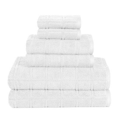 Boehm 100% Cotton Manor Jackson 6 Piece Bath Towel Set Breakwater Bay Color: White