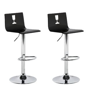 Haraway Height Adjustable Bar Stool (Set Of 2) By Metro Lane
