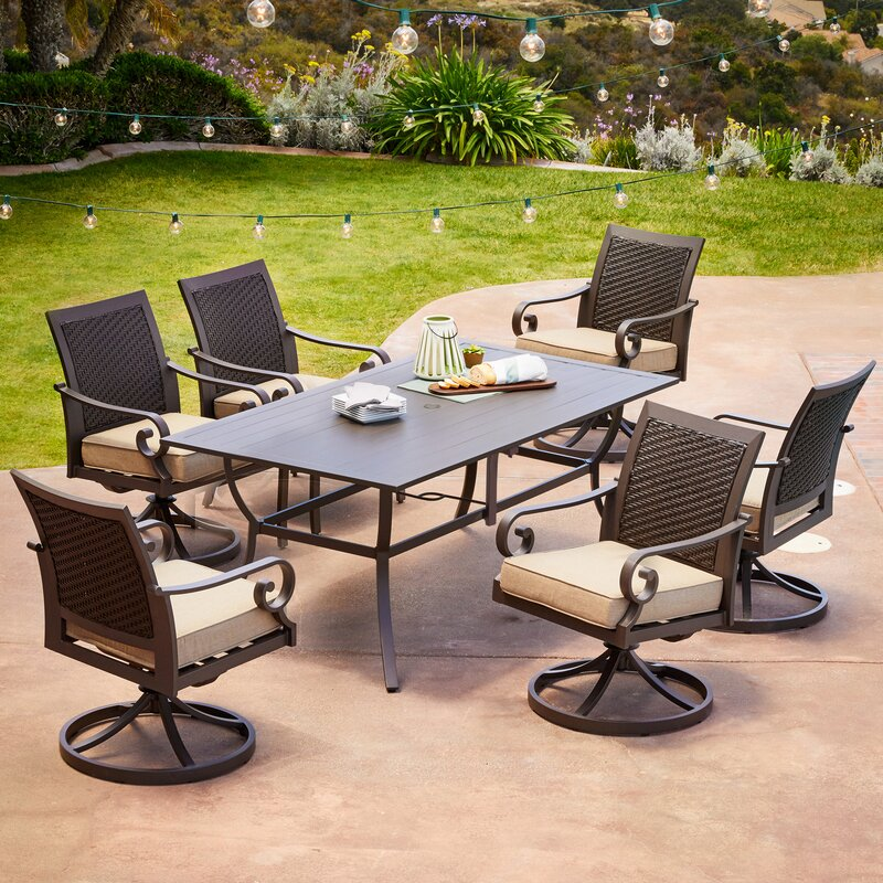 Kingston Seymour Milano 7 Piece Dining Set With Cushions