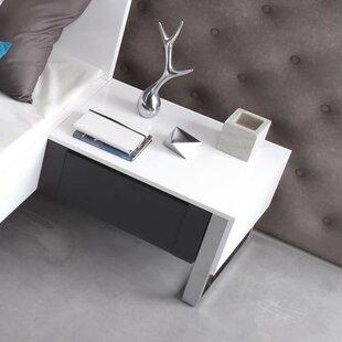 Lulu 1 Drawer Bedside Table By Wade Logan