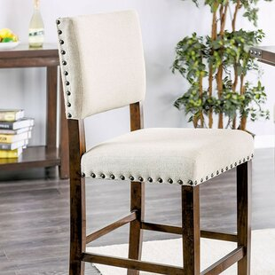 Rice Counter Height Upholstered Dining Chair (Set of 2)