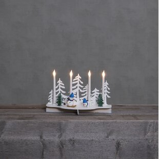 4-Light White Snowy Lamp By The Seasonal Aisle