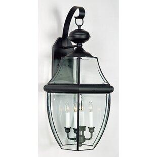 Three Posts Mellen 4-Light Incandescent Outdoor Wall Lantern
