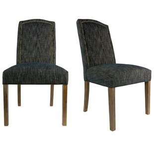 Sole Designs SL2008 Camelback Upholstered Parsons Chair (Set of 2)