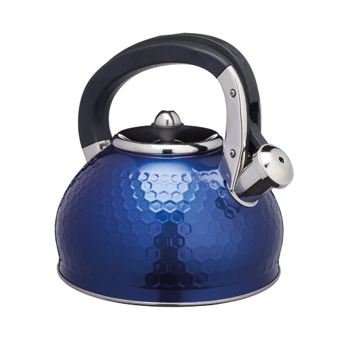 Lovello 2.5L Stainless Steel Whistling Stovetop Kettle KitchenCraft Colour: Midnight Navy