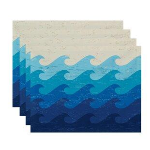 Amiyah Deep Sea Geometric Placemat (Set of 4)