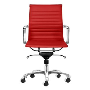 C2A Designs Toni Mid Back Leather Executive Chair