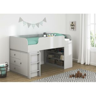 Amak Panel Twin Bed with Bookcase and Storage Organizer by Mack & Milo