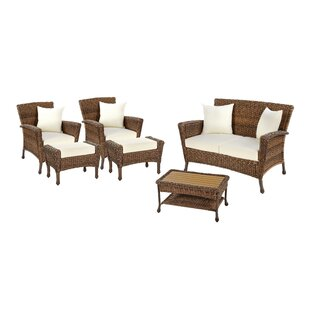 Larkin 6 Piece Sofa Seating Group with Cushions by Bayou Breeze