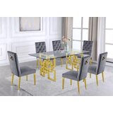 Marcano 7 Piece Dining Set by Everly Quinn