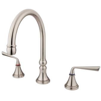 Kingston Brass Silver Sage Double Handle Deck Mounted Roman Tub Faucet Wayfair