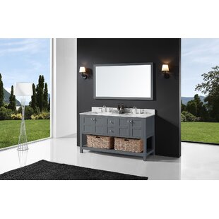 Coe 60 Double Bathroom Vanity Set with Mirror By Highland Dunes