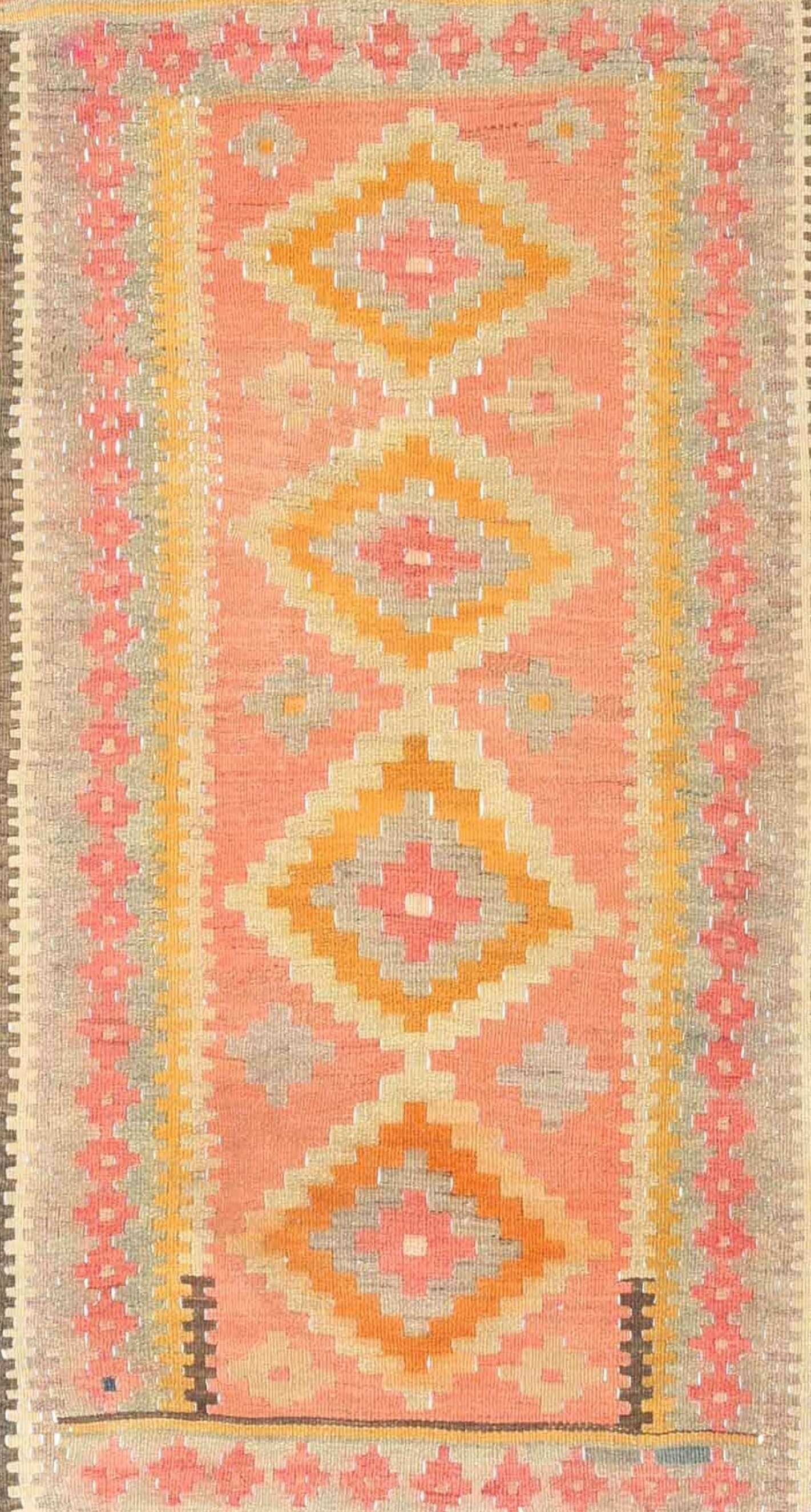 East Urban Home Contemporary Pink Yellow Area Rug Wayfair