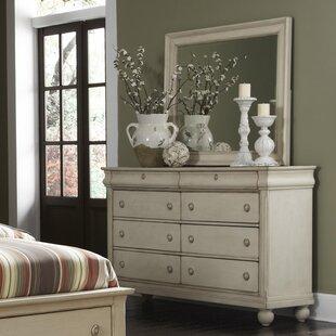Warlick 8 Drawer Double Dresser with Mirror