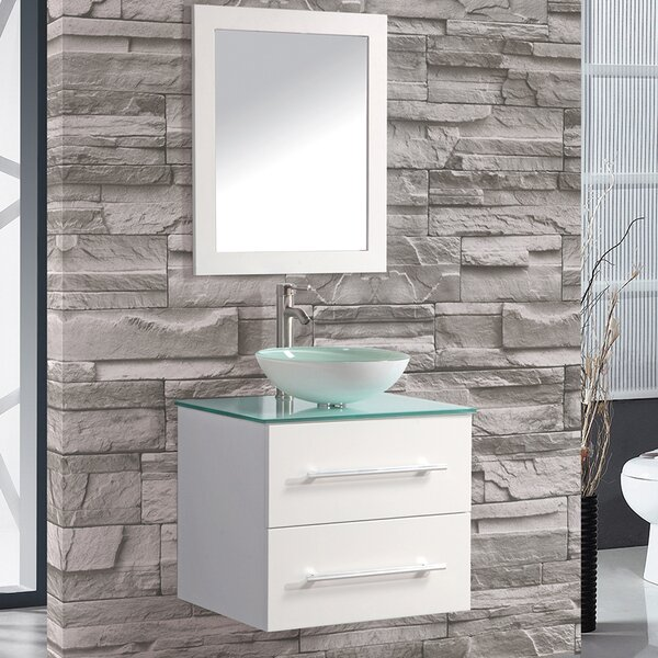 Orren Ellis Prado 24 Single Sink Wall Mounted Bathroom Vanity Set