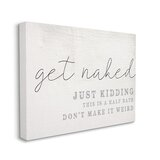 Get Naked This Is A Half Bath by Daphne Polselli - Floater Frame Textual Art