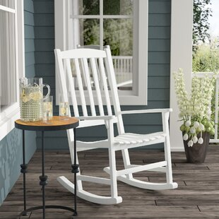 Merveilleux White Wood Rocking Chairs