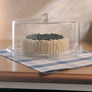Grainware Serving Necessities Cake Plate with Dome & Acrylic Cake Stand And Dome | Wayfair