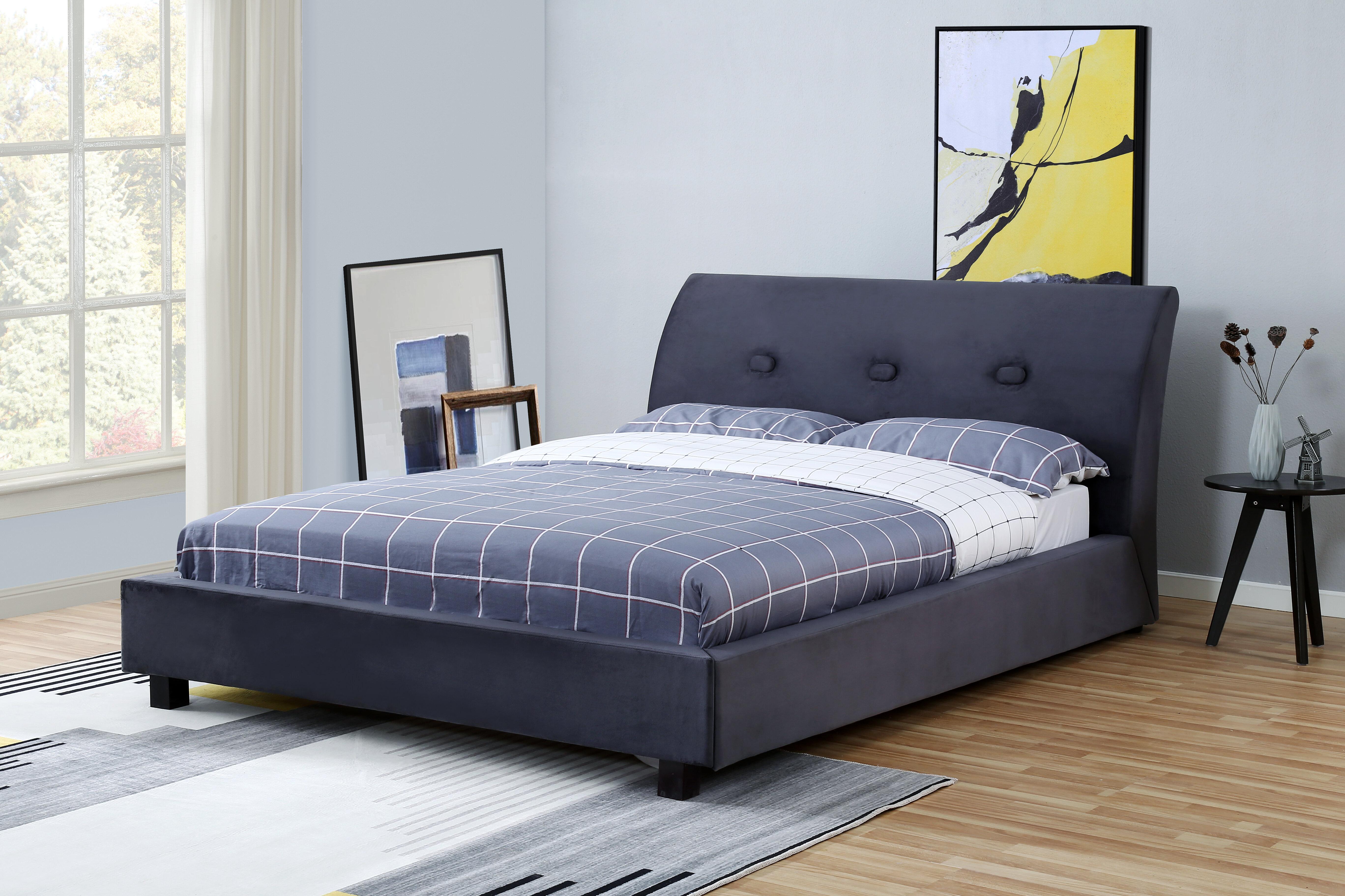 Red Barrel Studio Catton Tufted Upholstered Low Profile Platform Bed Wayfair
