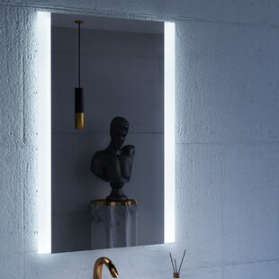 Read Reviews Charli LED Lighted Bathroom/Vanity Mirror By CIVIS USA
