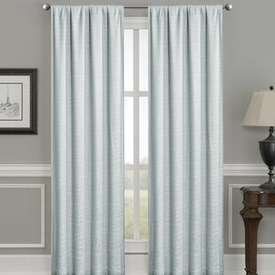Morelli Solid Color Max Blackout Thermal Rod Pocket Single Curtain Panel by Winston Porter