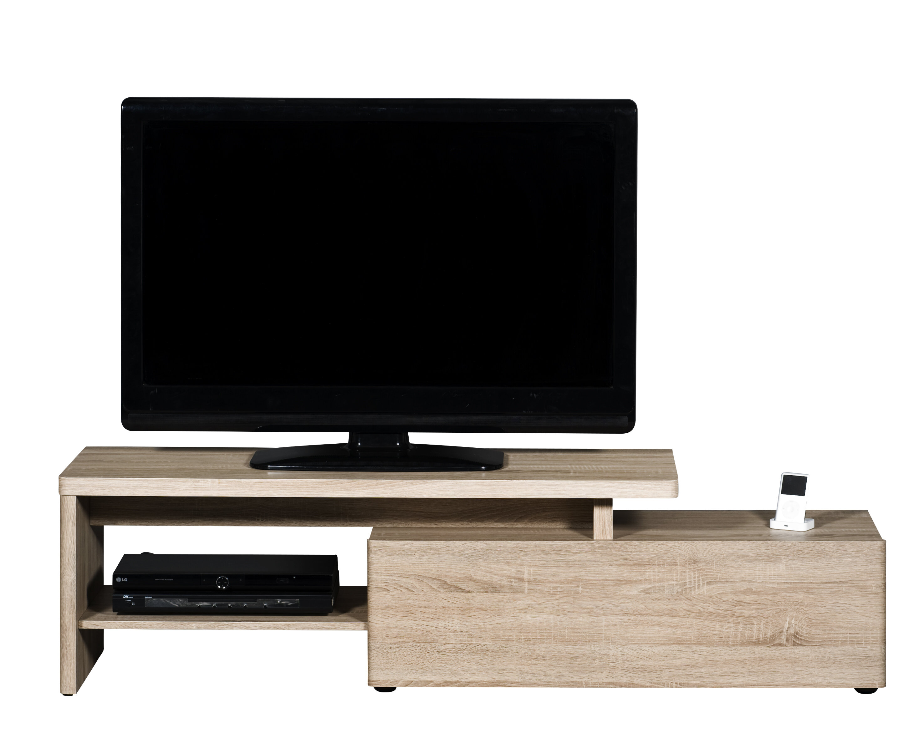 AVF SDC1400CMCC-A  TV Stand with Cable Management for up to 65-inch TVs Clea...