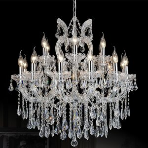 Orr Crystal 19-Light Candle-Style Chandelier