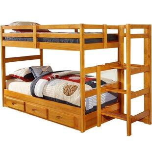 Zoomie Kids Hinnenkamp Twin over Twin Bunk Bed