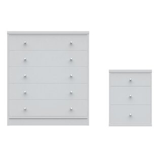 Boulton 2 Piece Bedroom Dresser and Nightstand Set