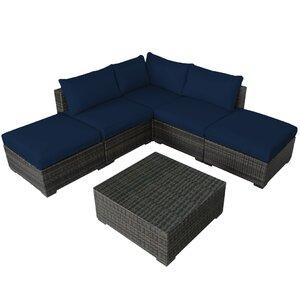 Lara 6 Piece Deep Seating Group with Cushions