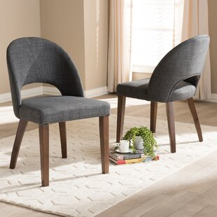 Tybalt Mid-Century Upholstered Dining Chair (Set of 2)