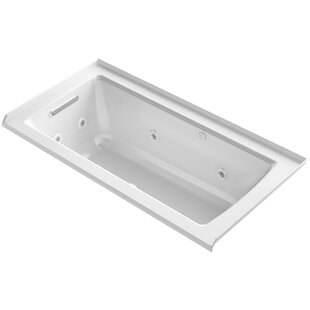 Kohler Archer Integral Flange Whirlpool and BubbleMassage™ Air Bath with Left-Hand Drain