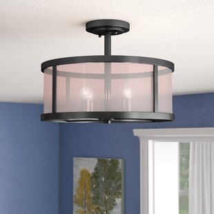 Elmer 4-Light Semi Flush Mount by Charlton Home